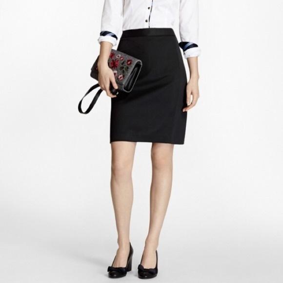 J. Crew Dresses & Skirts - J. CREW Black Wool Pencil Skirt  A2-4